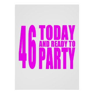 Girls 46th Birthdays : 46 Today and Ready to Party Poster