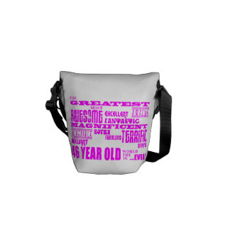 Girls 46th Birthdays Pink Greatest Forty Six Messenger Bags