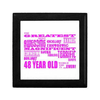 Girls 48th Birthdays Pink Greatest Forty Eight Keepsake Box