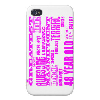 Girls 48th Birthdays Pink Greatest Forty Eight iPhone 4 Cases