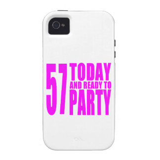 Girls 57th Birthdays : 57 Today and Ready to Party iPhone 4 Covers