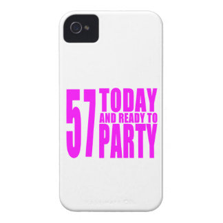 Girls 57th Birthdays : 57 Today and Ready to Party iPhone 4 Cover