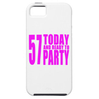 Girls 57th Birthdays : 57 Today and Ready to Party iPhone 5 Cases