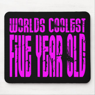 Girls 5th Birthdays Pink Worlds Coolest Five Year Mouse Pad