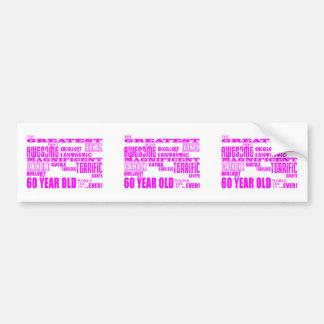 Girls 60th Birthdays : Pink Greatest 60 Year Old Bumper Sticker