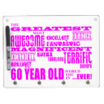 Girls 60th Birthdays : Pink Greatest 60 Year Old Dry Erase Boards