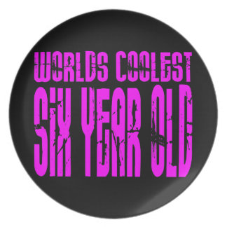 Girls 6th Birthdays Pink Worlds Coolest Six Year Plates