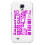Girls 70th Birthdays Pink : Greatest Seventy Samsung Galaxy S4 Covers