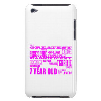 Girls 7th Birthdays : Pink Greatest 7 Year Old Barely There iPod Cover