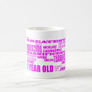 Girls 7th Birthdays : Pink Greatest 7 Year Old Coffee Mug