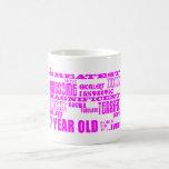 Girls 7th Birthdays : Pink Greatest 7 Year Old Mugs