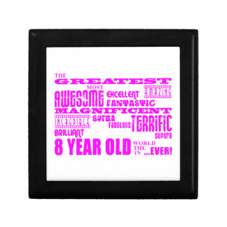Girls 8th Birthdays : Pink Greatest 8 Year Old Gift Boxes