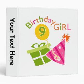 Girls 9th Birthday Binder