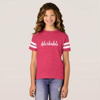 Girls Adorkable Football T-Shirt
