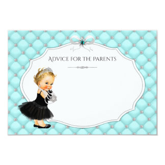 Girls Advice for Parents Baby Shower Cards