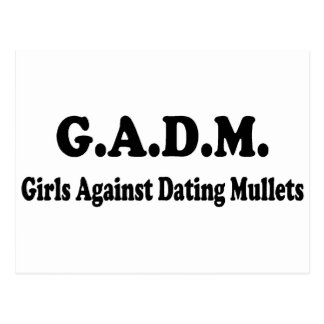 Girls Against Dating Mullets Postcard
