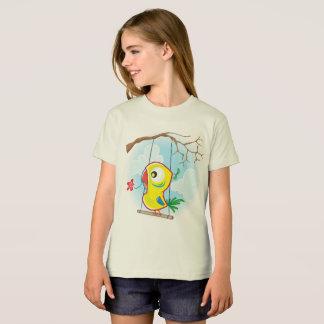Girls' American Apparel Organic T-Shirt, Natural T-Shirt