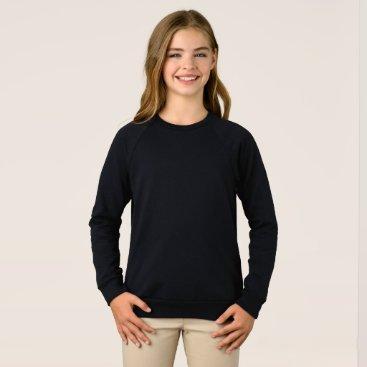 Beach Themed Girls' American Apparel Raglan Sweatshirt