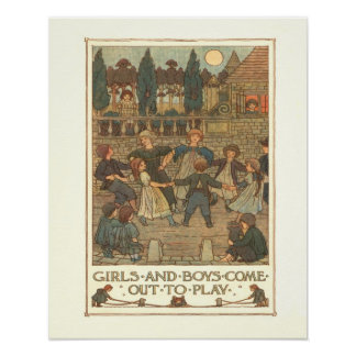 Girls and Boys Posters