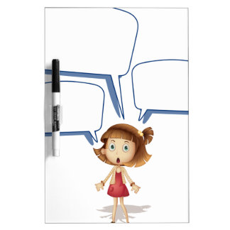 Girls and call out Dry-Erase boards
