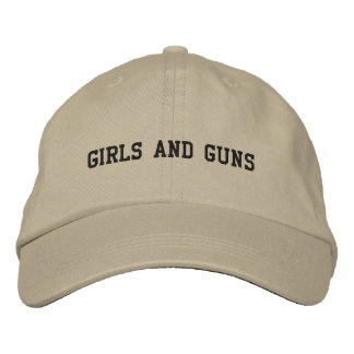 GIRLS and GUNS Embroidered Hats