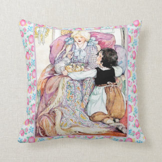 Girls and Kittens Pillow Cushion