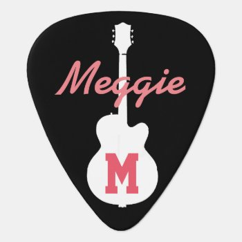 Girls And Rock Music Personalized Guitar Pick by mixedworld at Zazzle