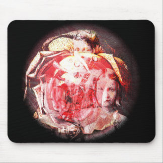 Girls and Roses Digital Collage Mousepad