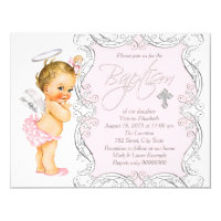 Angel Baptism Invitations Announcements Zazzle