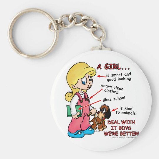 Girls are smarter than boys! keychain