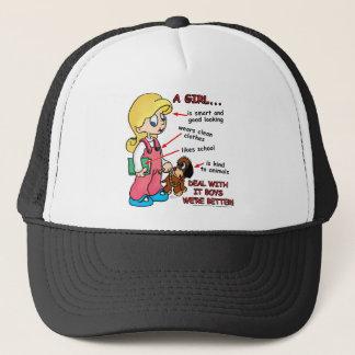 Girls are smarter than boys! trucker hat