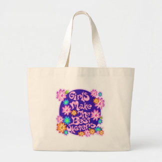Girls are the Best Skaters! Large Tote Bag