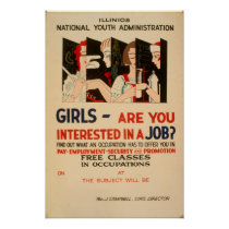Girls - Are You Interested In A Job Vintage WPA