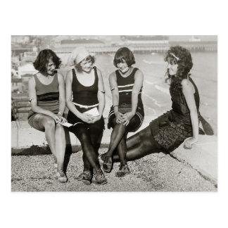 Girls at Atlantic City Beach, 1922 Postcard
