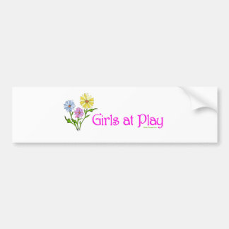 Girls at Play Bumper Sticker