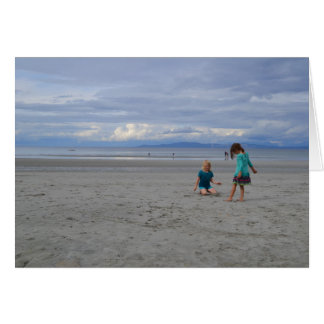 Girls at the Beach Greeting Card