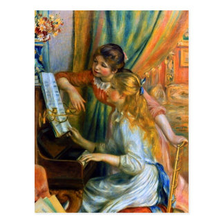 Girls at the Piano by Pierre Renoir Postcard