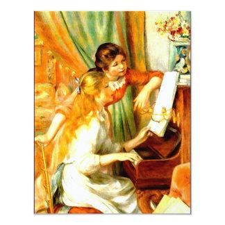 Girls at the Piano Invitations