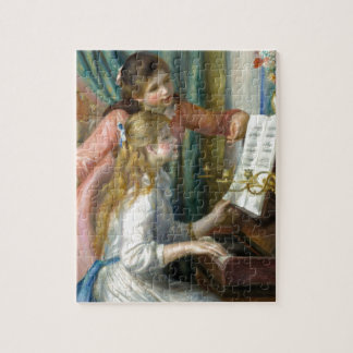 Girls at the Piano Jigsaw Puzzle
