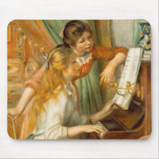 Girls at the Piano Mouse Pad