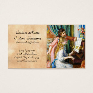 Girls at the Piano Pierre Auguste Renoir painting Business Card