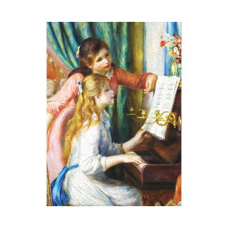 Girls at the Piano Pierre Auguste Renoir painting Canvas Print