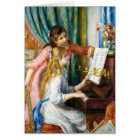 Girls at the Piano Pierre Auguste Renoir painting Card