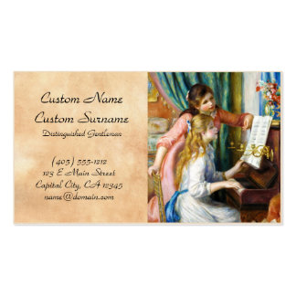 Girls at the Piano Pierre Auguste Renoir painting Double-Sided Standard Business Cards (Pack Of 100)