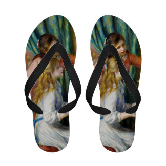 Girls at the Piano Pierre Auguste Renoir painting Sandals