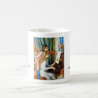 Girls at the Piano Pierre Auguste Renoir painting Classic White Coffee Mug