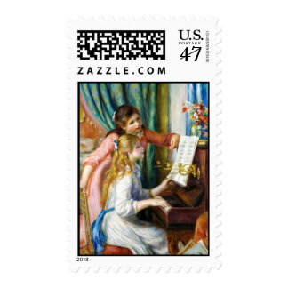 Girls at the Piano Pierre Auguste Renoir painting Postage