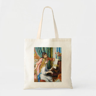 Girls at the Piano Pierre Auguste Renoir painting Tote Bag