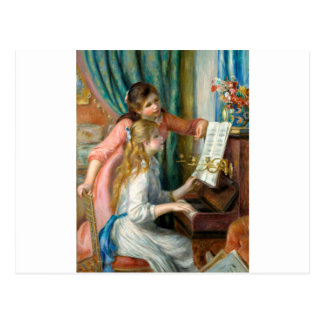 Girls at the Piano Postcard
