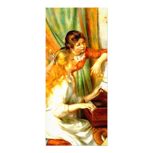 Girls at the Piano Rack Cards